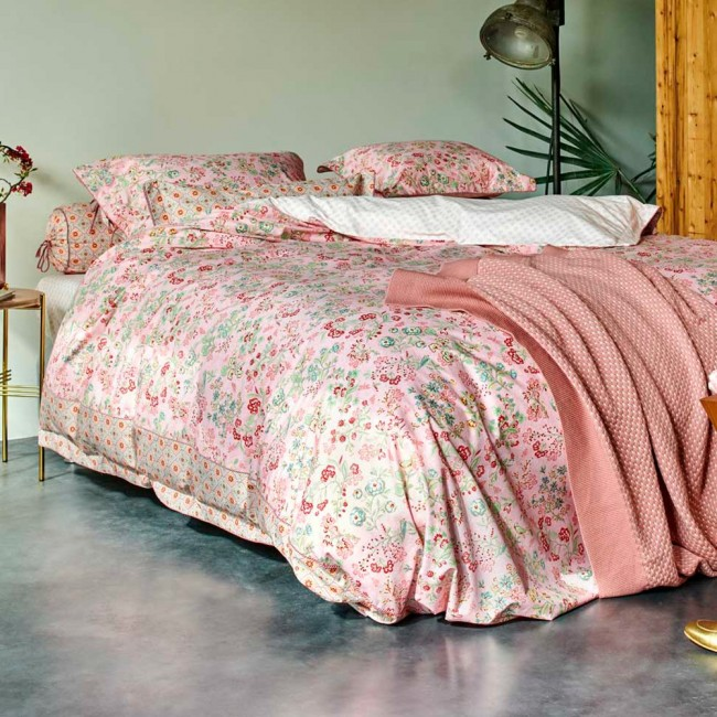 jaipur plower pink parure de lit percale de coton pip studio linge mat. Black Bedroom Furniture Sets. Home Design Ideas