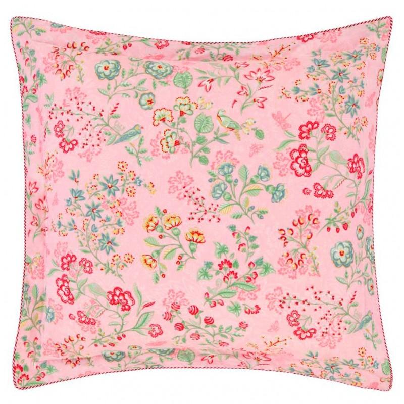 Jaipur plower pink housse de couette en percale pip for Housse de couette percale de coton