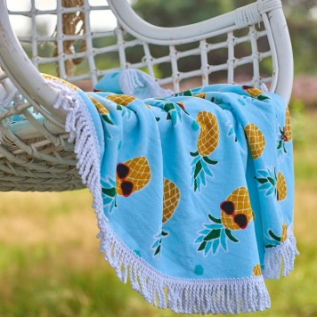 Drap de plage Pineapple Aqua - Covers and Co