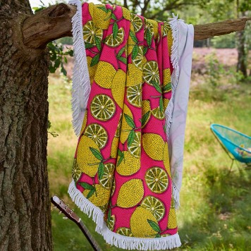 Drap de plage Lemons Multi - Covers and Co