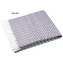 RISEN Plaid 100% coton frangé - Stof