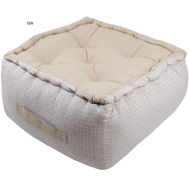 izzi pouf et coussin de sol matelass 100 coton stof. Black Bedroom Furniture Sets. Home Design Ideas