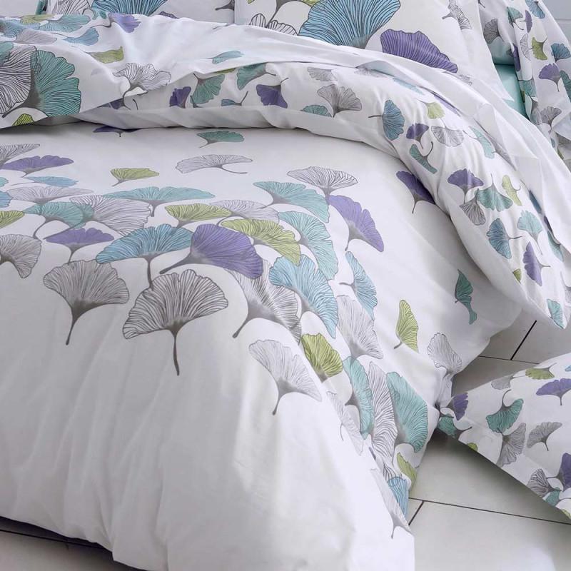 ginko drap plat en percale de coton tradilinge linge mat. Black Bedroom Furniture Sets. Home Design Ideas