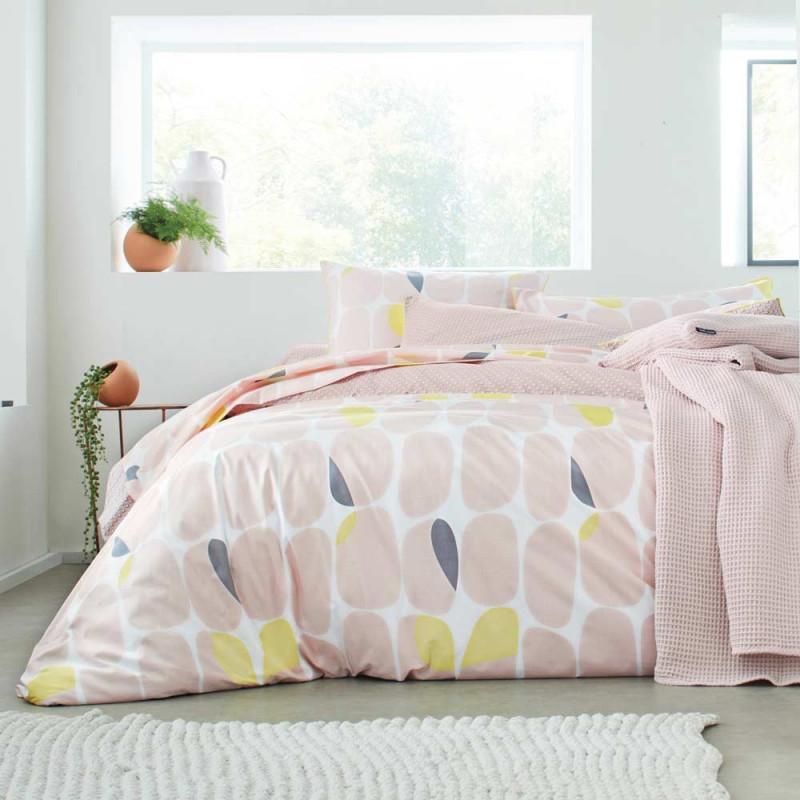galet poudre housse de couette blanc des vosges linge mat. Black Bedroom Furniture Sets. Home Design Ideas