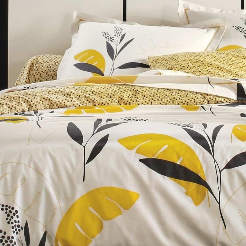 valauris bouton d 39 or housse de couette en percale blanc. Black Bedroom Furniture Sets. Home Design Ideas