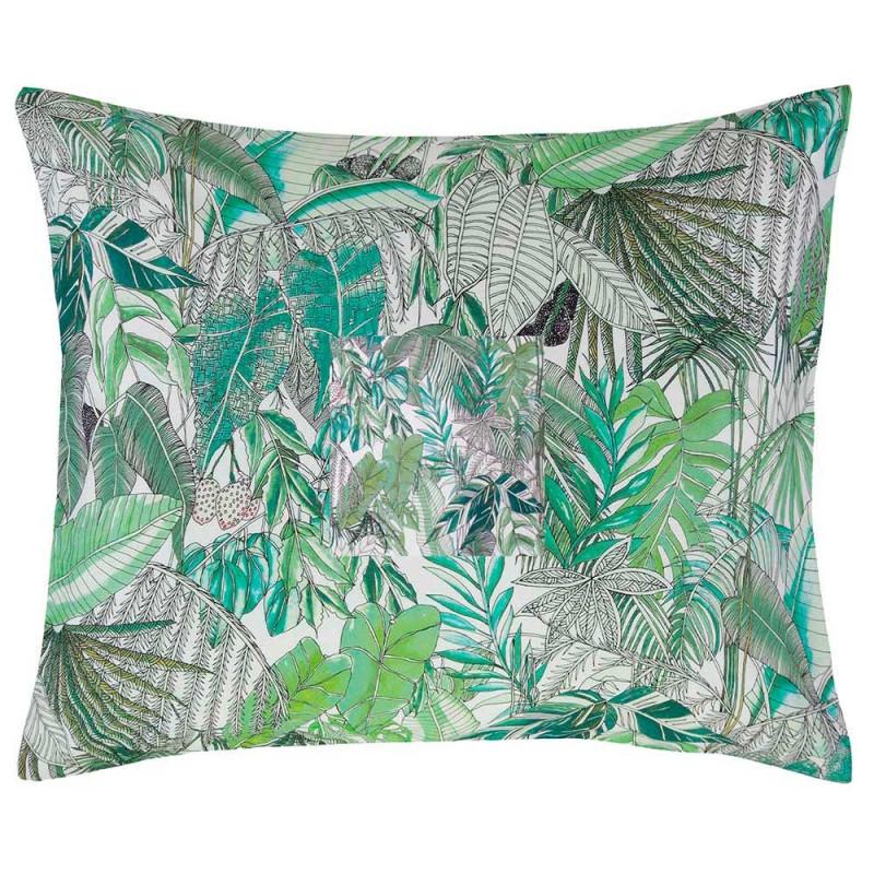 loba green taie d 39 oreiller satin de coton de essenza. Black Bedroom Furniture Sets. Home Design Ideas