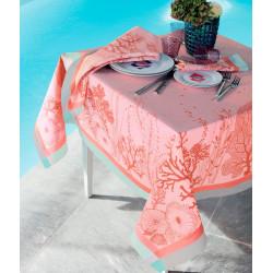 CORAIL ROSE Nappe et serviette - Garnier Thiebaut