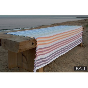 great bali fouta de bain x fil blanc with mat linge de maison. Black Bedroom Furniture Sets. Home Design Ideas