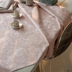MILLE CHARMES ROSE FUME Nappe et serviette - Garnier Thiebaut
