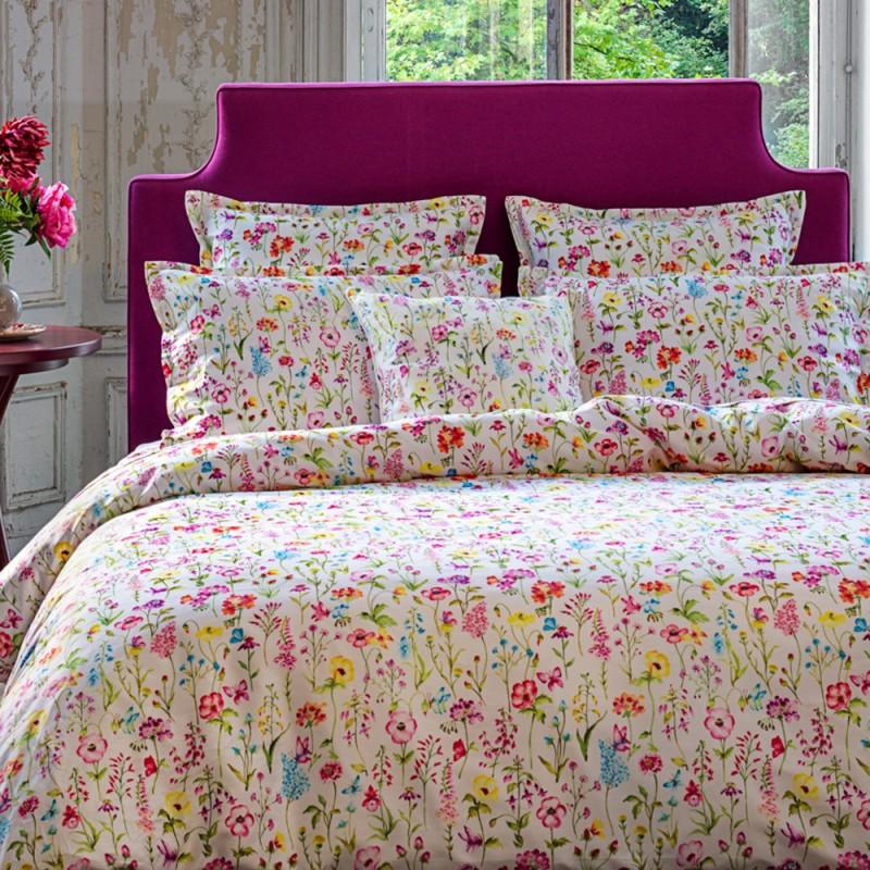 PRAIRIE Parure de lit Satin de coton - Jardin Secret - Linge Mat