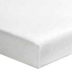 TEMPO NUAGE Drap housse uni blanc Percale - Essix