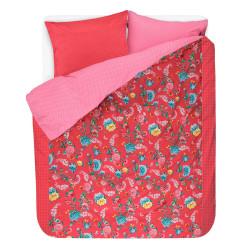 GOOD NIGHT Red Housse de couette Percale de coton - Pip Studio