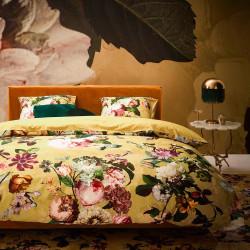 FLEUR Golden Yellow Parure de lit Satin de coton - Essenza