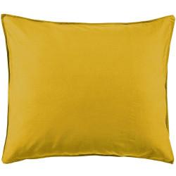 MINTE Golden Yellow Taie d'oreiller Satin de coton - Essenza