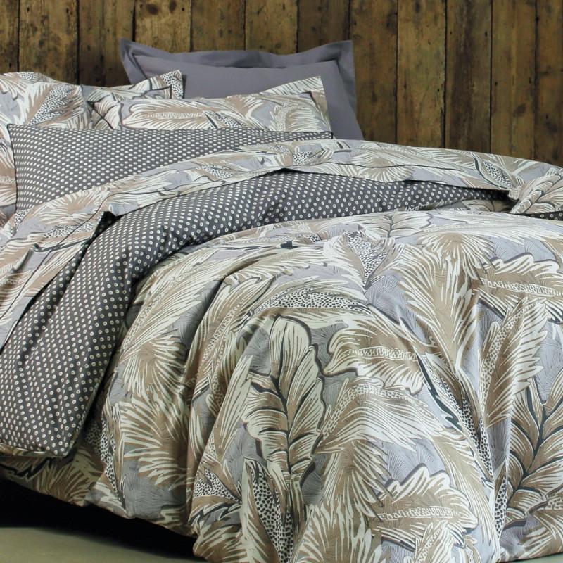 djakarta sable housse de couette blanc des vosges 100 coton linge mat. Black Bedroom Furniture Sets. Home Design Ideas