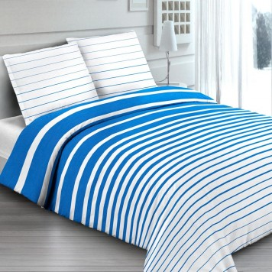 RIGATO Bleu Parure de lit - MAT