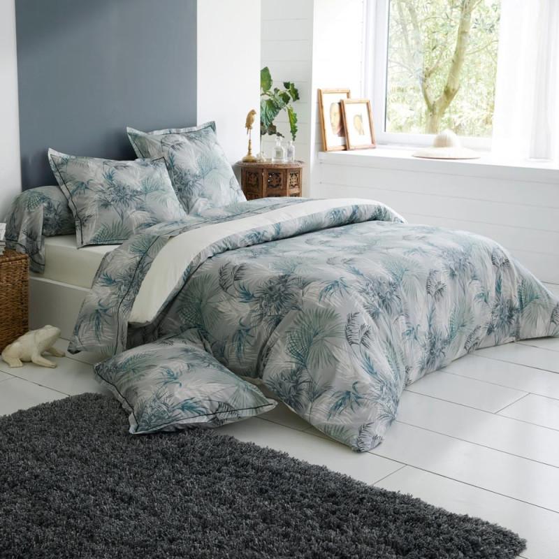 TROPICAL Parure de lit percale de coton -