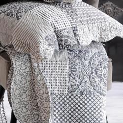 CLAUDETTE Couvre lit façon boutis réversible avec taies d'oreiller - Stof