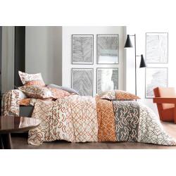 Variations Orange - Parure de drap - Blanc des Vosges