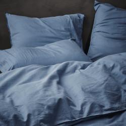 GUY Blue Parure de lit Coton Prélavé - Essenza