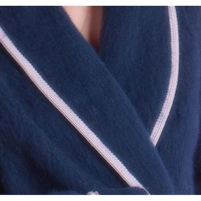 Chic Robe De Chambre 100 Pure Laine Val D Arizes Linge Mat