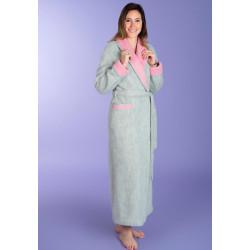 CONTRASTÉ Robe de chambre 100 % pure laine - Val d'Arizes