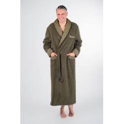 PEIGNOIR Uni col tissu homme 100 % pure laine - Val d'Arizes
