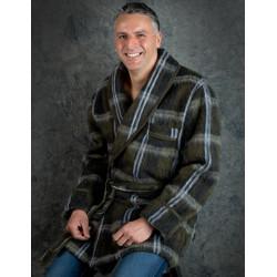 VESTON ÉCOSSAIS Loden Homme 100 % pure laine - Val d'Arizes