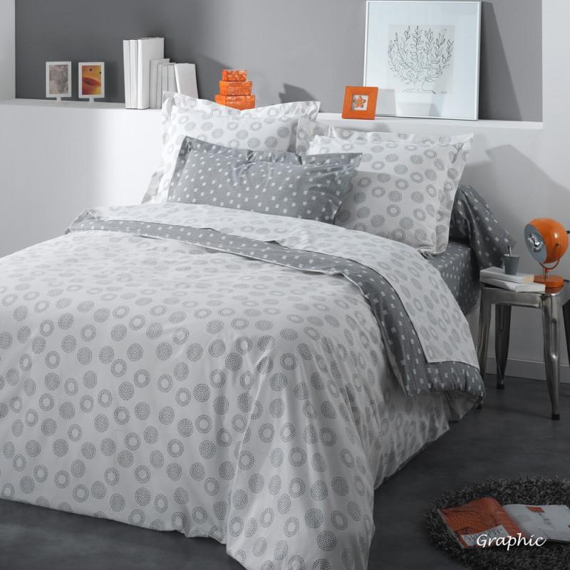 parure de lit graphic de jour de paris par texunion linge mat. Black Bedroom Furniture Sets. Home Design Ideas