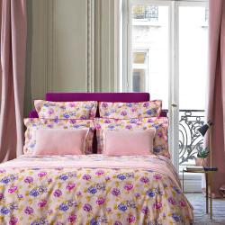 ANNA Poudre Parure de lit Satin de coton - Jardin Secret