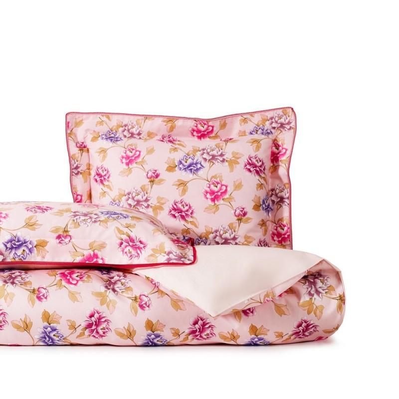 ANNA Poudre Parure de lit Satin de coton - Jardin Secret - Linge Mat