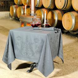 FLORENCE Taupe Nappe jacquard 100% coton - Vent du Sud