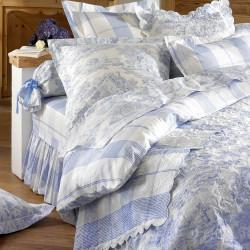 Pastorale Bleu Parure de lit - Aude de Balmy