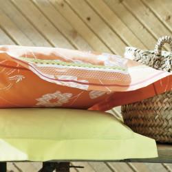 BOHEME Orange Taie d'oreiller - Blanc des Vosges
