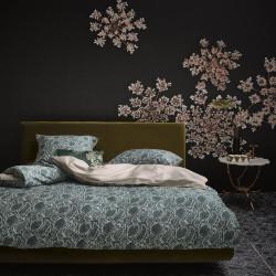 SOLAN Green Parure de lit Satin de coton - Essenza