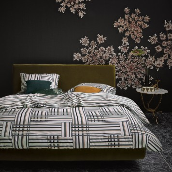 EVIE Green Parure de lit Satin de coton - Essenza