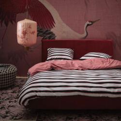 LYRA Dusty rose Parure de lit Satin de coton - Essenza