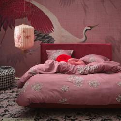 LAUREN Dusty rose Parure de lit Satin de coton - Essenza