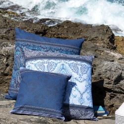 FARAGLIONI Blue V3 Taie d'oreiller Satin - Bassetti Granfoulard
