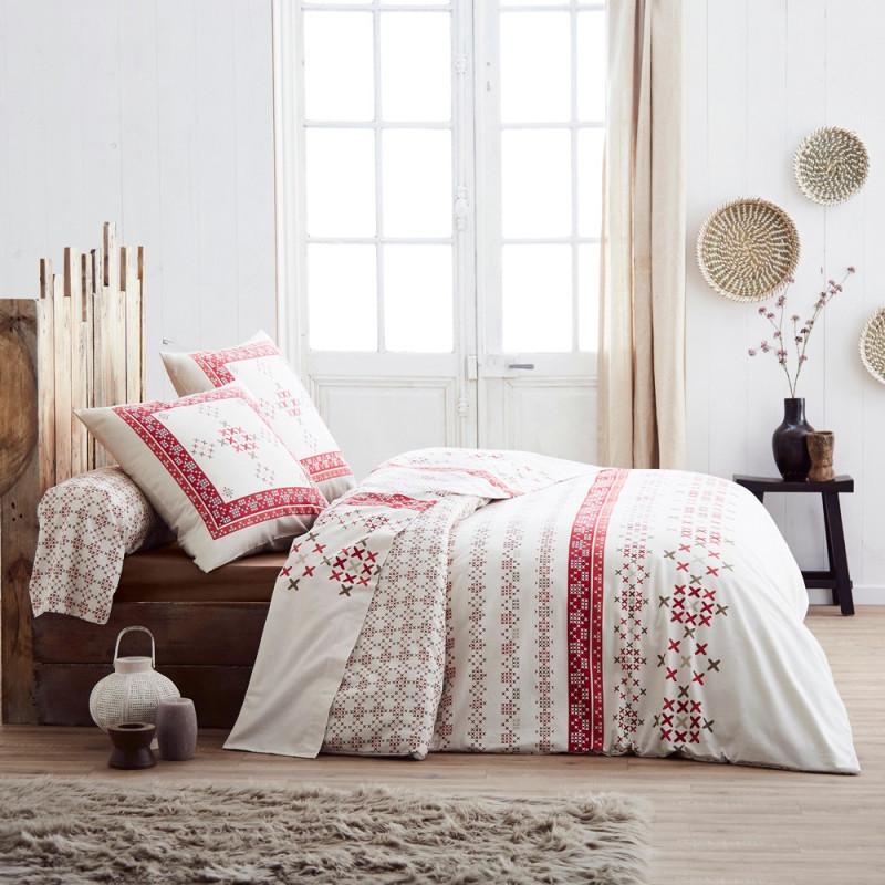 parure de drap lit 140 galway en flanelle tradilinge linge mat. Black Bedroom Furniture Sets. Home Design Ideas