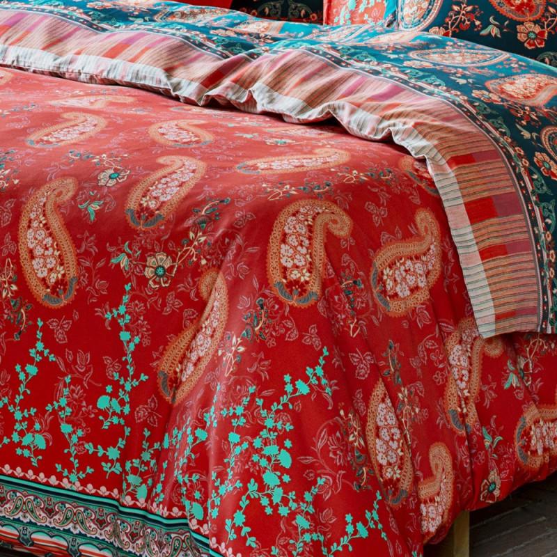 Anacapri Rosso V1 Housse De Couette Bassetti Granfoulard Linge Mat