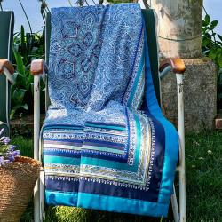 RAVELLO Blue V3 Foulard - Bassetti Granfoulard