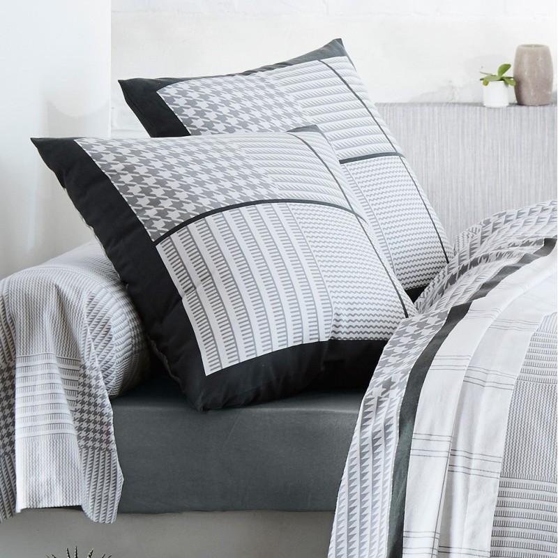 parure de lit flanelle dandy de tradilinge linge mat. Black Bedroom Furniture Sets. Home Design Ideas