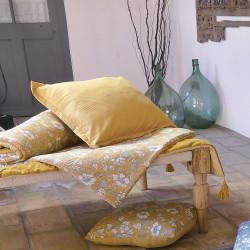 Baïa curry chemin de lit et coussins - Vent du Sud