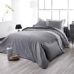 WESLEY Noir Parure de lit Satin de coton - Tradilinge