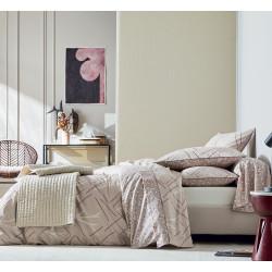 DÉSERT Sable Parure de lit Percale de coton - Blanc des Vosges