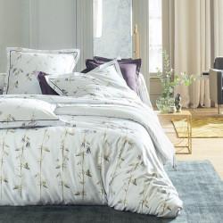 ANCOLIE Perle Parure de lit Satin de coton - Blanc des Vosges