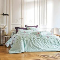 ANCOLIE Opale Parure de lit Satin de coton - Blanc des Vosges