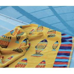 Maya drap de plage 95x170 Jacquard velours de Vent du Sud