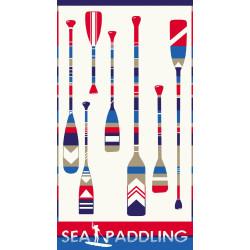 PADDLING drap de plage 95x170 Jacquard velours de Vent du Sud